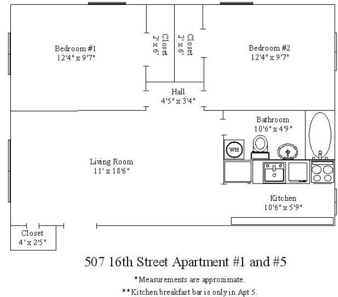 507 16th Street 2 Bedroom Apartment For Rent In